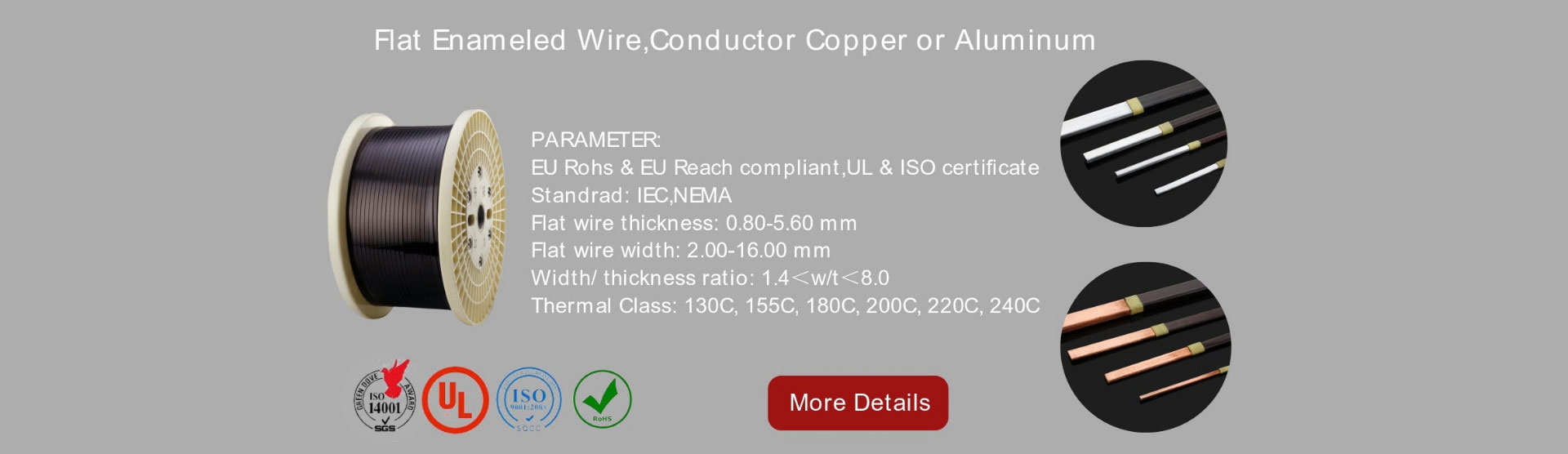 Enamelled Flat Copper Wire,enameled wire,winding wires,varnished ...